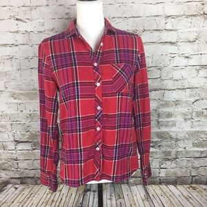 American Eagle red plaid flannel shirt